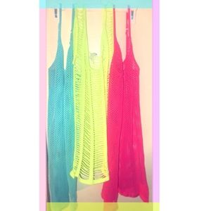 BUNDLE✨of 3 bright colored mesh tops💜💙💚💛❤️